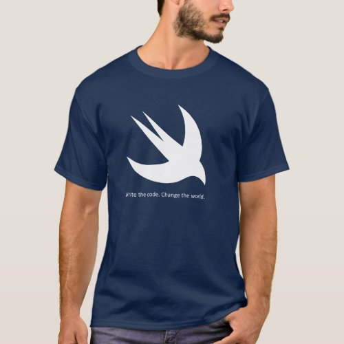 Swift Programmer Mens Basic Dark T_Shirt