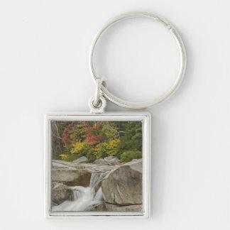 Swift River cascading through rocks, White Keychain