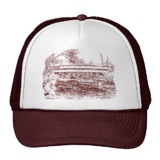 Swift River Covered Bridge Sketch Trucker Hat