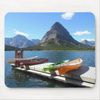 Swiftcurrent Lake Boats- Glacier National Park Mouse Pad
