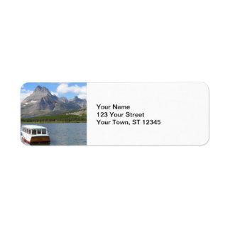 Swiftcurrent Lake - Glacier National Park Label