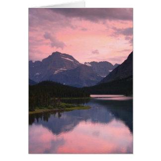 Swiftcurrent Lake, Glacier National Park, Montana Card