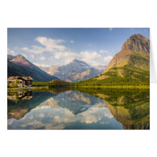 Swiftcurrent Lake with Many Glacier hotel and Card