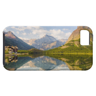 Swiftcurrent Lake with Many Glacier hotel and iPhone 5 Cover