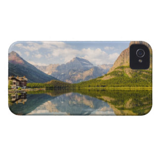 Swiftcurrent Lake with Many Glacier hotel and iPhone 4 Cover