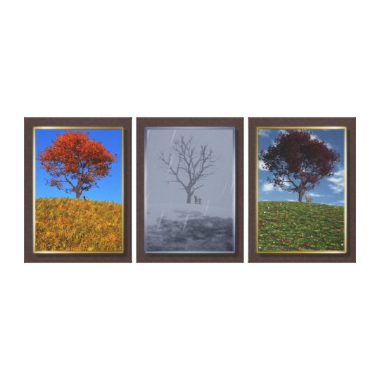 Swiftly Fly the Years Triptych Canvas Print