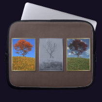 Swiftly Fly the Years Triptych Laptop Sleeve
