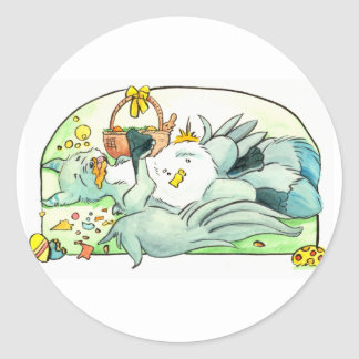 Swiftpaw: Easter Overload Classic Round Sticker