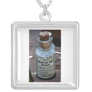 Swift's Specific Blood Purifier Square Pendant Necklace