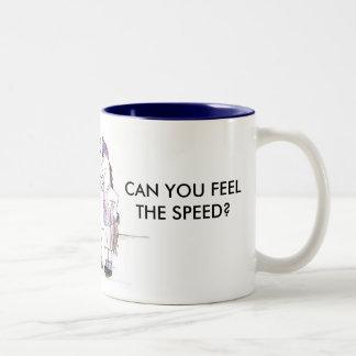 SWIFTY, CAN YOU FEEL THE SPEED? Two-Tone COFFEE MUG