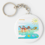 Swiiming gifts for kids basic round button keychain
