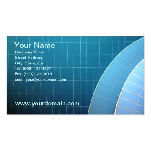 Swiiming pool business card zazzle for Pool business cards