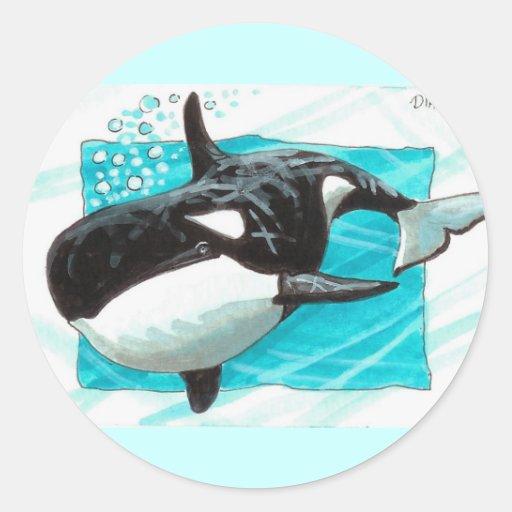 Swim Along Classic Round Sticker