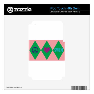 Swim Argyle Decals For iPod Touch 4G