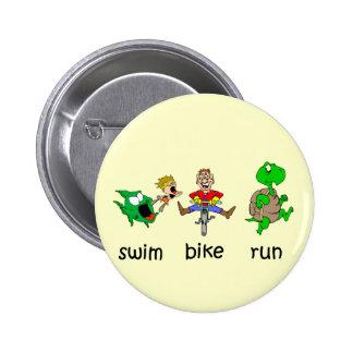 Swim Bike Run 2 Inch Round Button