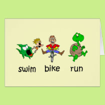 Swim Bike Run Card