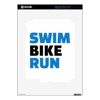 Swim bike run decal for iPad 2