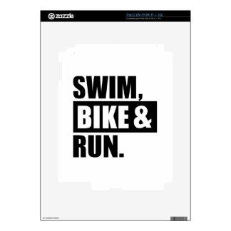 Swim bike run decal for the iPad 2