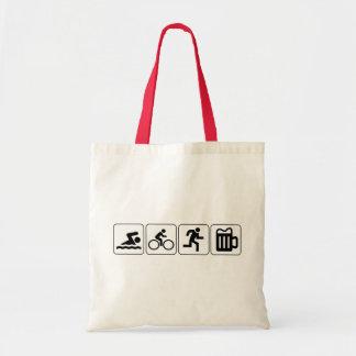 Swim Bike Run Drink Canvas Bag