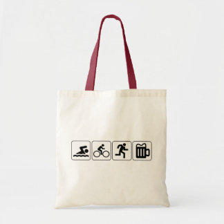 Swim Bike Run Drink Tote Bag