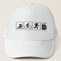 Swim Bike Run Drink Trucker Hat