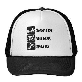 Swim Bike Run Trucker Hats