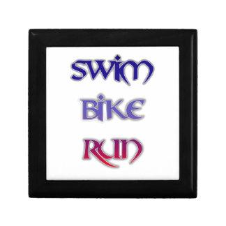 Swim Bike Run Jewelry Box