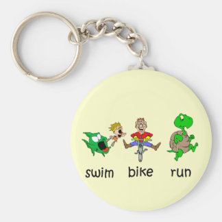 Swim Bike Run Key Chain