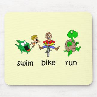 Swim Bike Run Mouse Pad