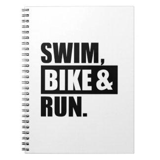 Swim bike run notebooks