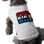 Swim Bike Run Pet T-shirt