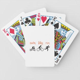 Swim Bike Run Bicycle Playing Cards