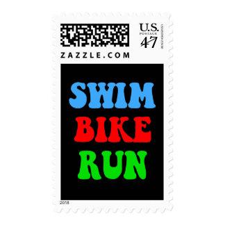 Swim Bike Run Postage