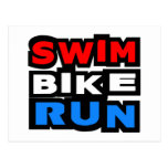 Swim Bike Run Postcard