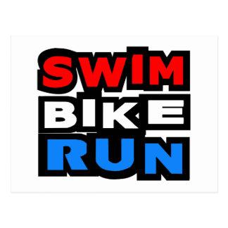 Swim Bike Run Postcard