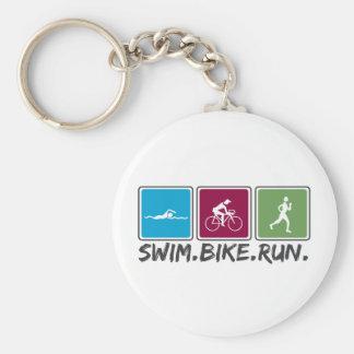 swim bike run (triathlon) keychain