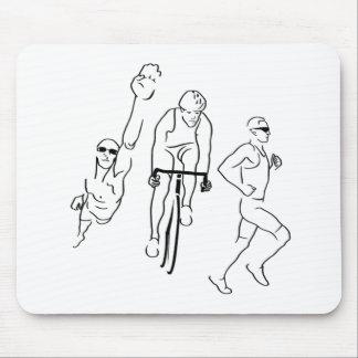 Swim Bike Run Triathlon Mouse Pad