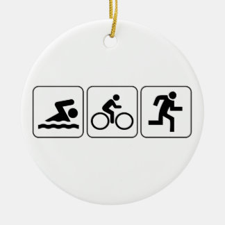 Swim, Bike, Run - Triathlon Christmas Ornament