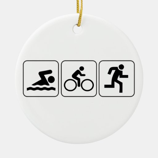 Swim, Bike, Run - Triathlon Christmas Ornament