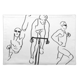Swim Bike Run Triathlon Place Mats