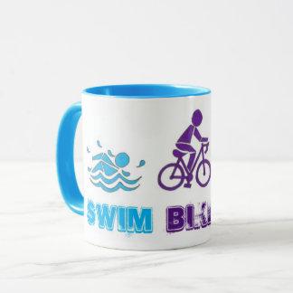Swim Bike Run Triathlon Race Athlete Ironman Mug