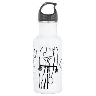 Swim Bike Run Triathlon Stainless Steel Water Bottle