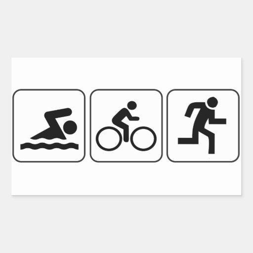 Swim, Bike, Run - Triathlon Stickers