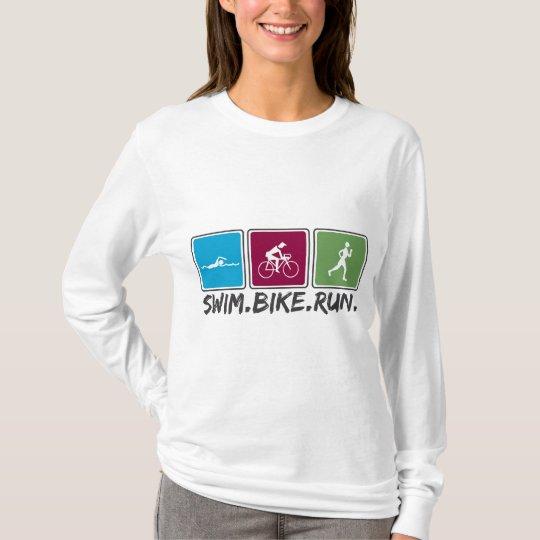 swim bike run (triathlon) T-Shirt