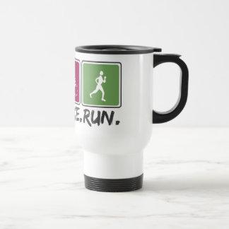 swim bike run (triathlon) travel mug