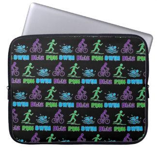 Swim Bike Run Triathlon Triathlete Ironman Race Computer Sleeve
