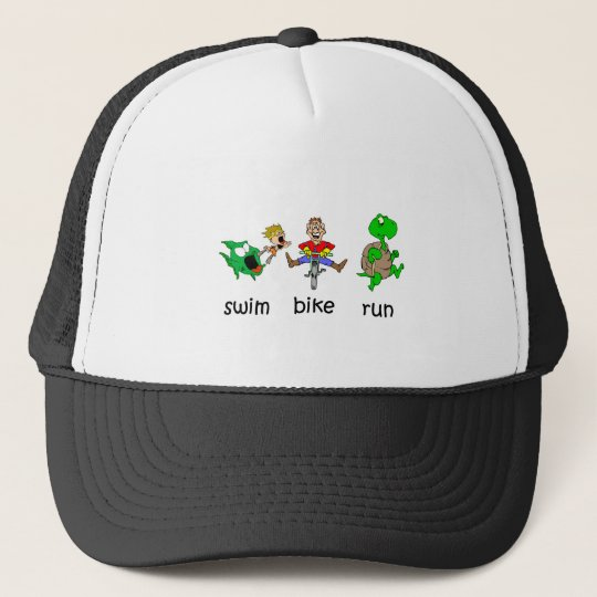 Swim Bike Run Trucker Hat
