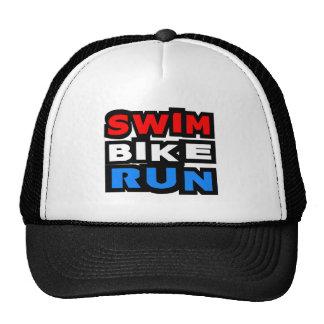 Swim Bike Run Trucker Hat