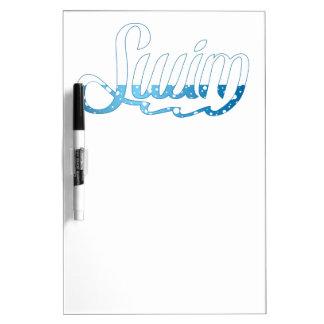 Swim Bubbles Graphic Dry-Erase Board