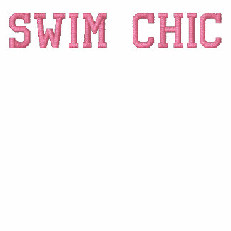 Swim Chic - Chlorine is my Perfume - Athletic Embroidered Track Jacket